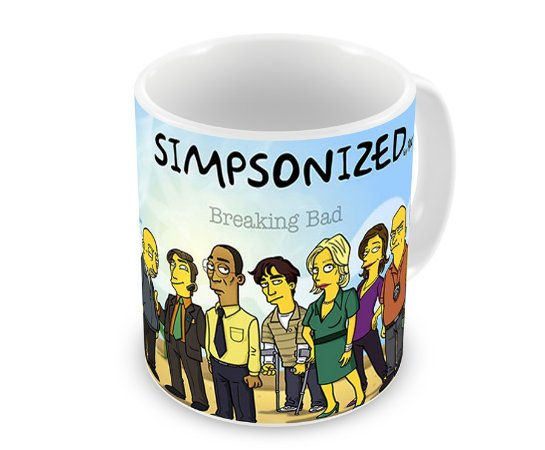 Caneca Breaking Bad The Simpsons Personagens