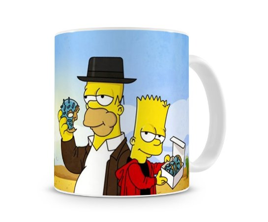 Caneca Breaking Bad Simpsons Homer e Bart