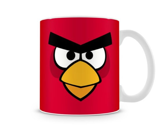 Caneca Angry Birds Red