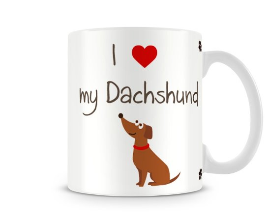 Caneca I Love my Dachshund