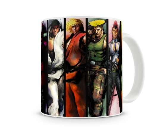 Caneca Street Fighter Personagens