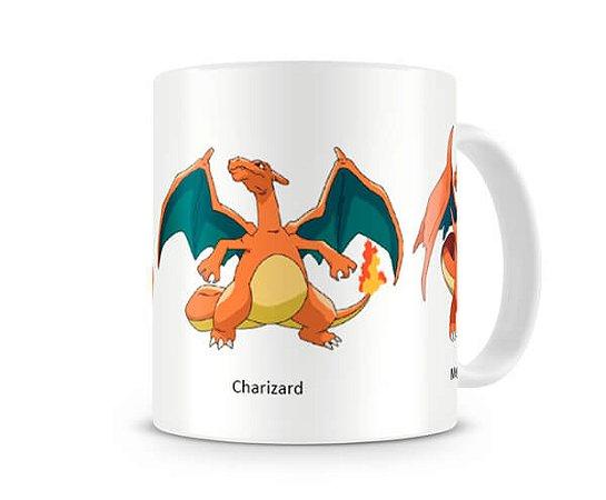Caneca Pokémon Evolução Charizard