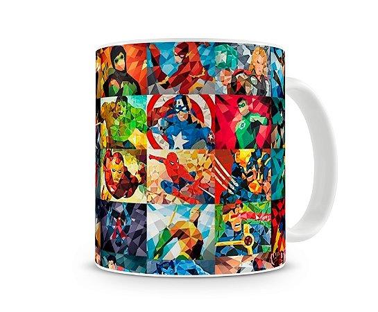 Caneca Marvel DC Vitral