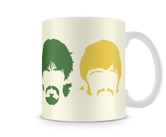 Caneca Beatles Heads Colors