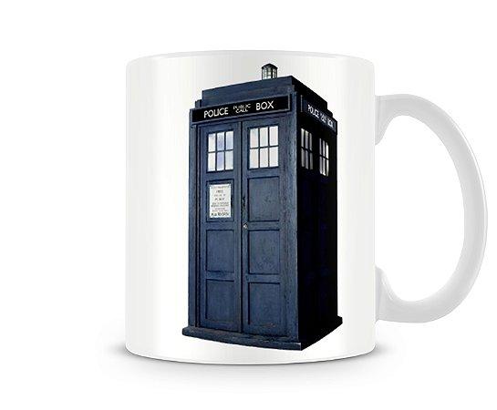 Caneca Doctor Who Police Box