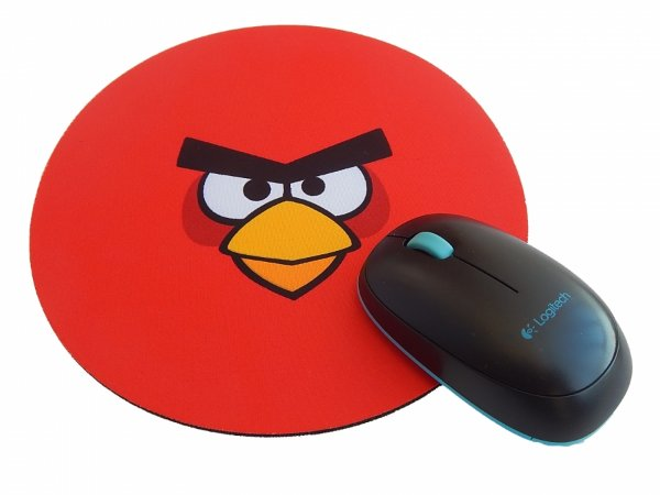Mousepad Redondo Angry Birds Red