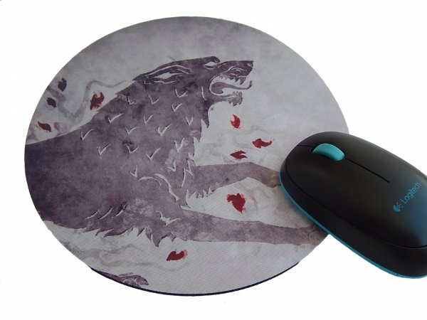 Mousepad Redondo Game of Thrones Stark Wolf