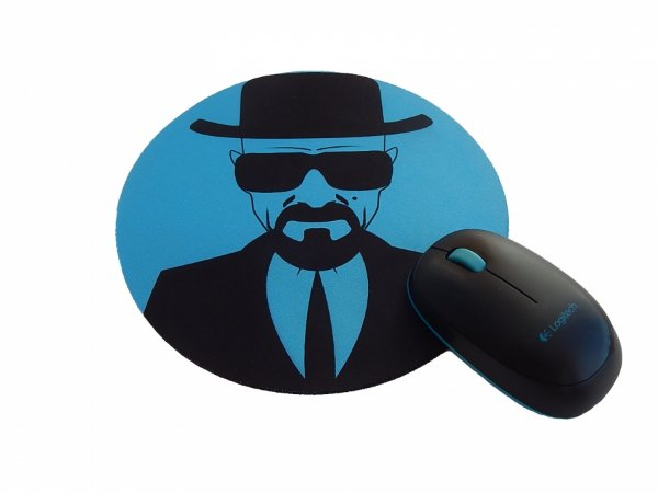 Mousepad Redondo Breaking Bad Walt Blue