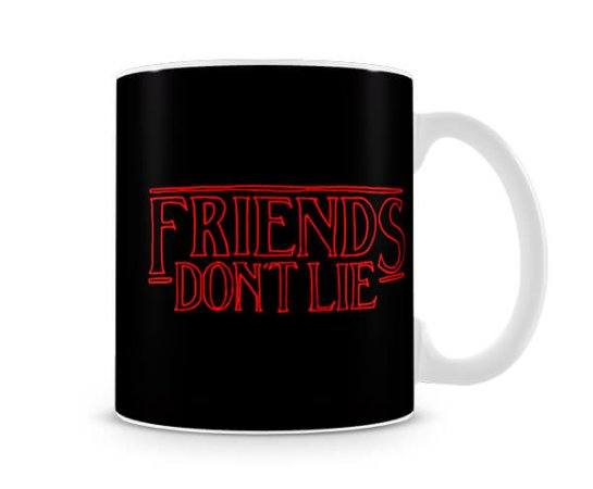 Caneca Stranger Things Friends Dont lie II