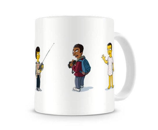 Caneca Stranger Things Simpsons I