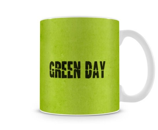 Caneca Green Day Warning