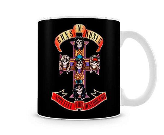 Caneca Guns N Roses Appetite for Destruction Preta