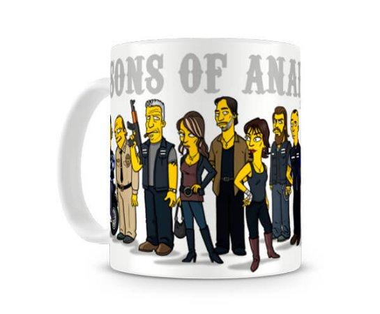 Caneca Sons of Anarchy Simpsons