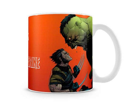 Caneca Hulk x Wolverine