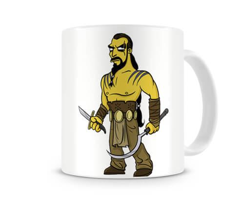 Caneca Game of Thrones Khal Drogo Simpsons