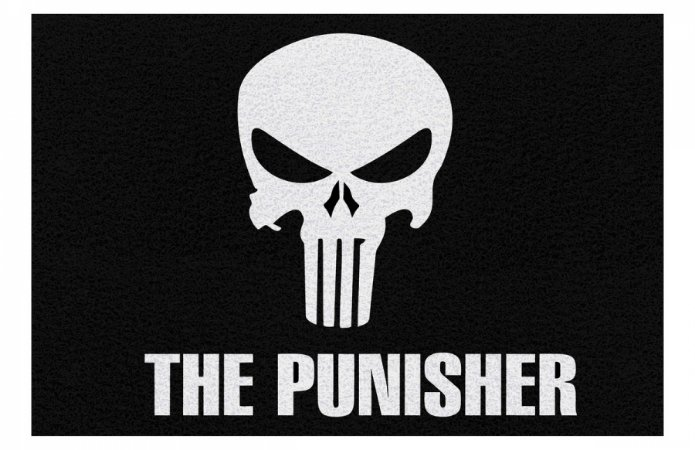 Capacho The Punisher Justiceiro - 60 x 40