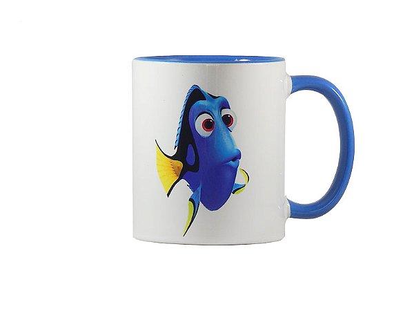 Caneca Procurando Dory color blue