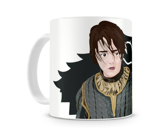 Caneca Game of Thrones Arya Stark Wolf