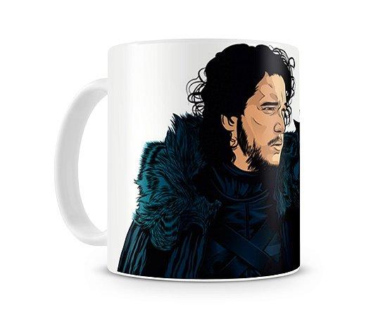 Caneca Game of Thrones Jon Snow desenho
