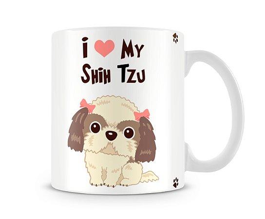 Caneca I Love my Shih Tzu