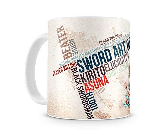 Caneca Sword Art Online Asuna e Kirito