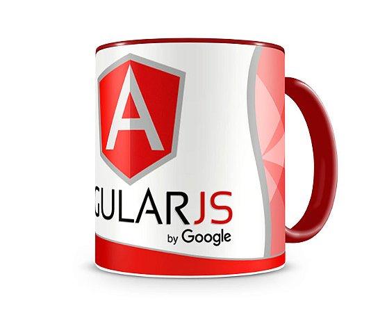Caneca Angular JS color vermelha