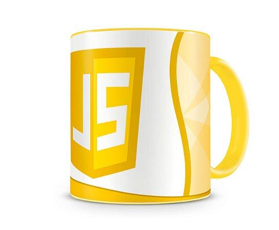 Caneca Linguagem JS color Amarelo
