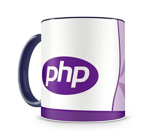 Caneca Linguagem PHP color Azul