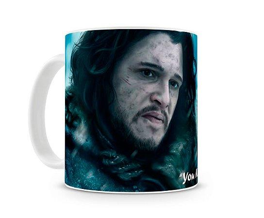 Caneca Game of Thrones Jon Snow Wolf