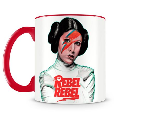 Caneca Star Wars Leia Rebel Rebel Vermelha