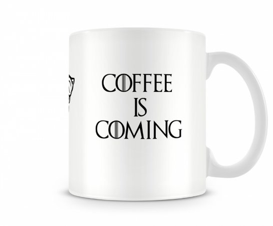 Caneca Game of Thrones Coffee is Coming