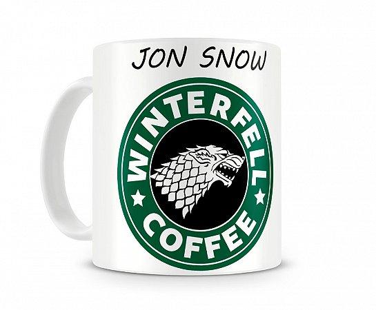Caneca Game of Thrones Jon Snow Coffee