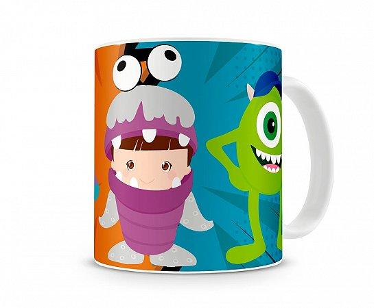 Caneca Monstros S.A Sully Boo e Mike