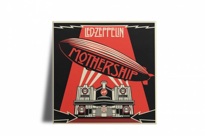 Azulejo Decorativo Led Zeppelin  Mothership 15x15
