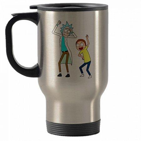 Caneca térmica para carro Rick And Morty mod 2