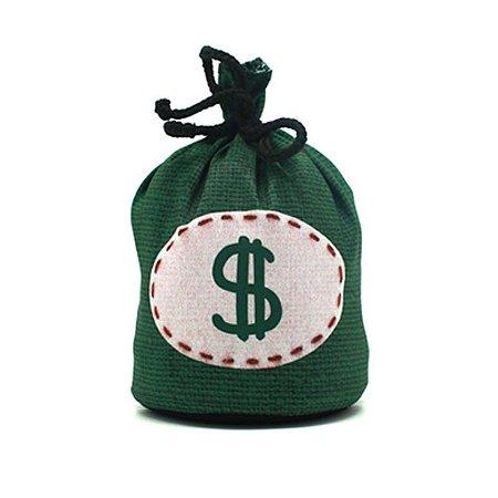 Peso de Porta saco de dinheiro verde