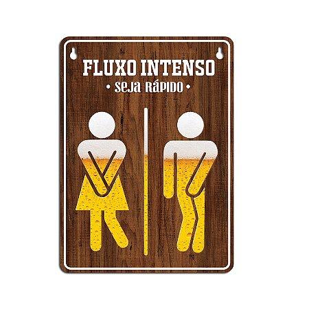 Placa para banheiro cerveja