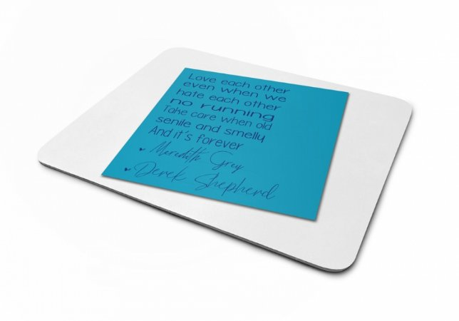 Mousepad Greys Anatomy Post It