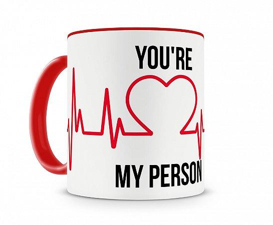 Caneca Greys Anatomy My Person Vermelha