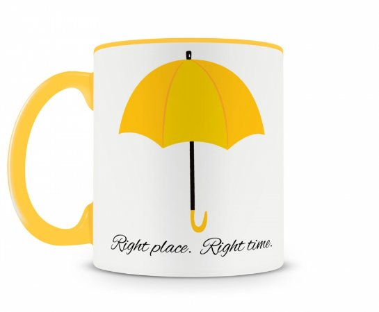 Caneca how i met your mother umbrella amarela