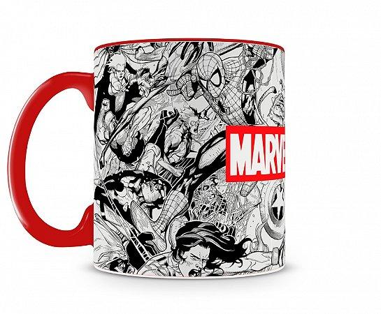Caneca Marvel Comics Pb Vermelho