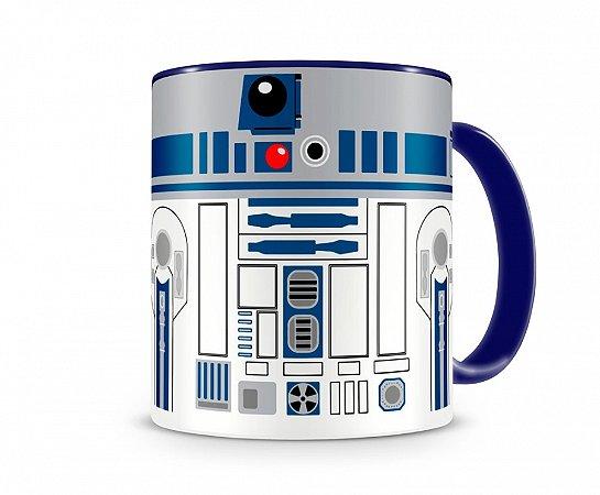 Caneca Star Wars R2D2 M Azul