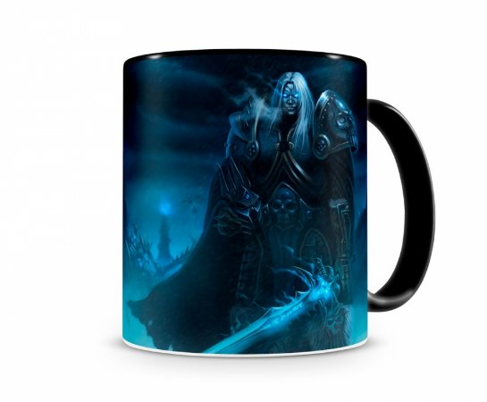 Caneca World Of Warcraft Artha III Preta