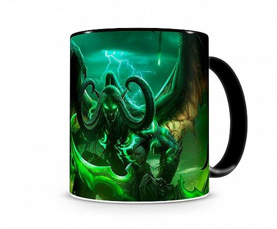 Caneca World Of Warcraft Illidan I Preta