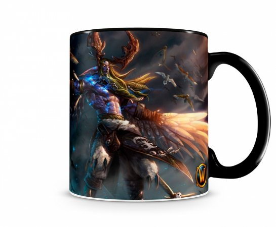 Caneca World Of Warcraft Malfurion I Preta
