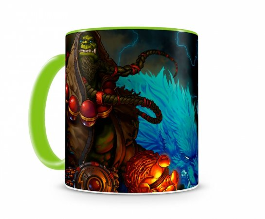 Caneca World Of Warcraft Thrall I Verde