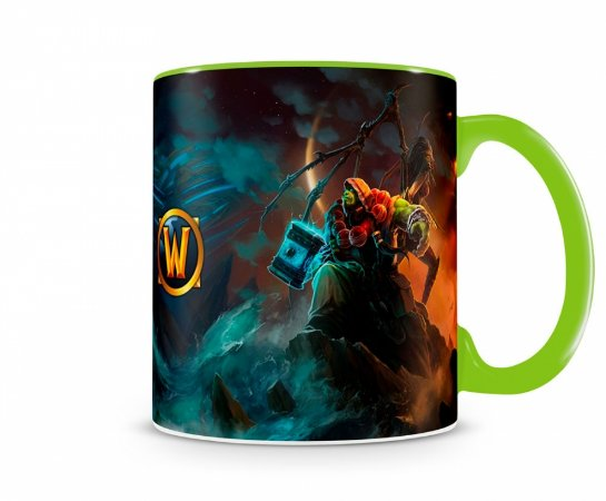 Caneca World Of Warcraft Thrall II Verde