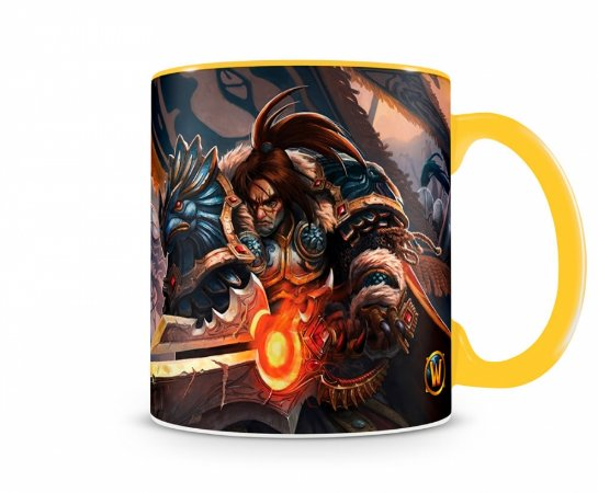 Caneca World Of Warcraft Varian I Amarela