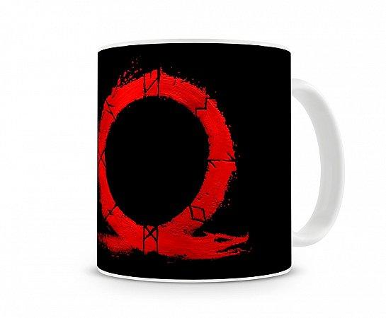 Caneca God Of War Logo Vermelho