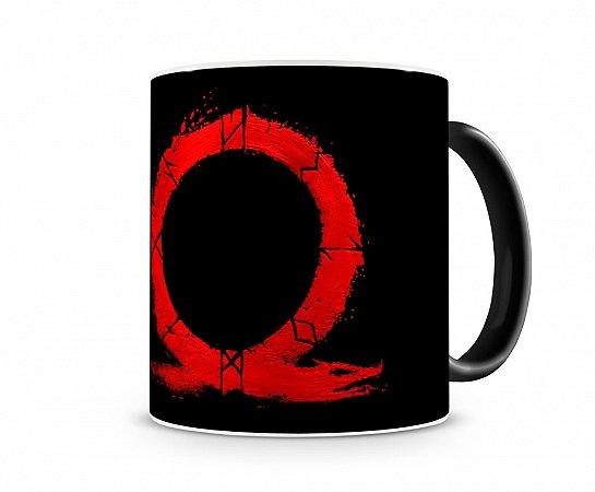 Caneca Mágica God Of War Logo Vermelho